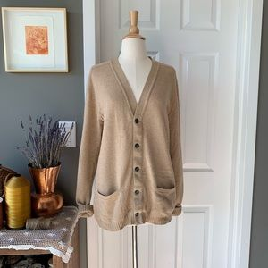 Vintage 60s Jaeger Scottish cashmere cardigan 1470